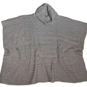 GAP Taupe Women's Knit Poncho Size M/L